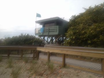 Lifeguard tower at beach