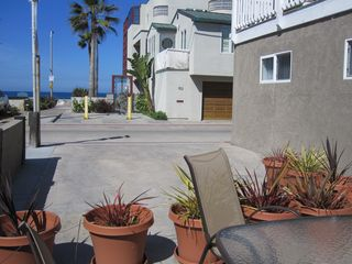 Mission Beach house photo - Front Patio with Large Size Parking that Fits Large SUV