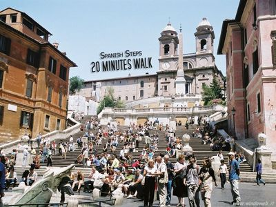 The Spanish Steps are one of the most famous steps of Rome