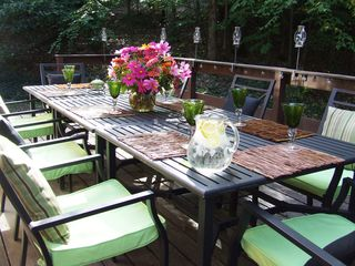 Ithaca lodge photo - Large dining deck