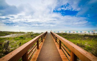 BOARDWALK OVER SAND DUNES TO BEACH