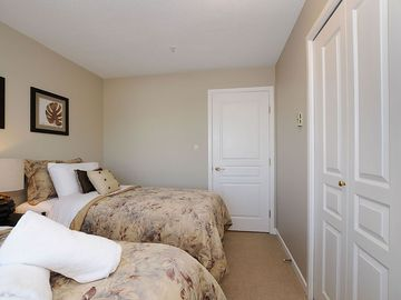 Second bedroom with twin beds or convert to a king. Just let us know!