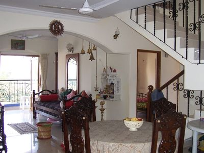 Beautiful apartment in Panaji (Goa) with river and sea views