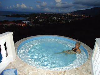 Playa Cofresi villa photo - Evening in the hot tub