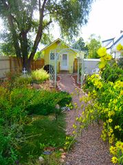 Colorado Springs cottage photo - Captivating English Style Garden w/ Rocky Mountains & Antique Gazebo