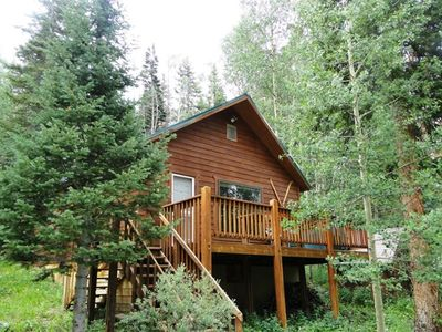 Main View of Streamside Chalet - Beautiful Wooded Property with Private Stream