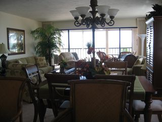 Fort Myers Beach condo photo - View of living room from kitchen.