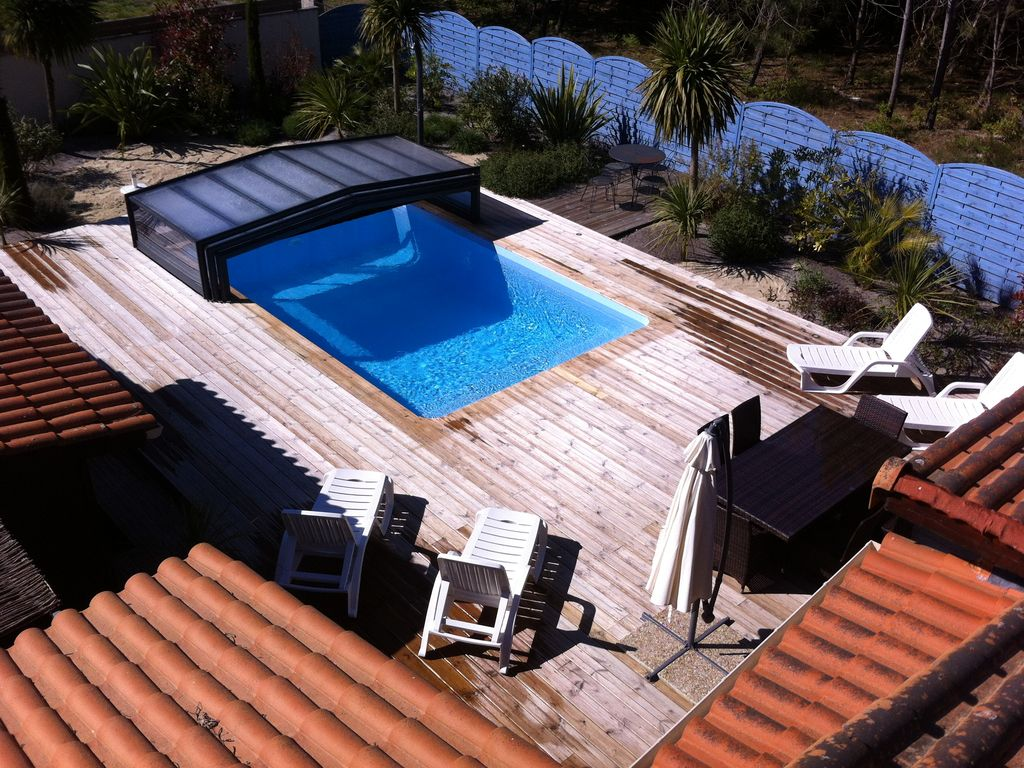 Aquitaine gironde medoc soulac chalet avec piscine priv e - Chalet avec piscine privee ...