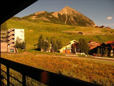 View of Mt. Crested Butte and West Wall lift from Balcony in Summer
