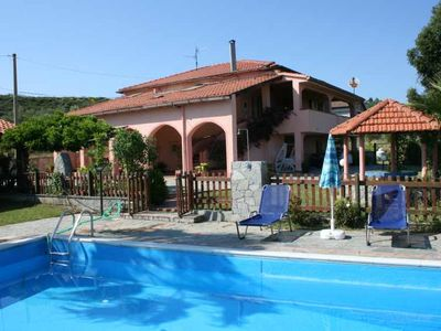 Cilento Holiday house with pool and beautiful sea views for 2 to 13 people