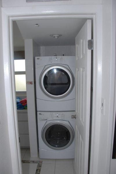 Washer & Dryer located inside the unit