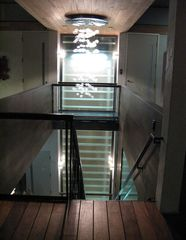 San Francisco estate photo - Glass stairs