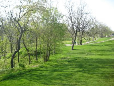 Lake Geneva condo rental - View of Trevino 13th Tee Box Spring Time