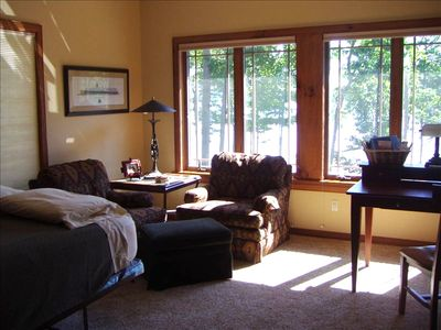 Den/5th Bedroom w/ full bath & view of Big Glen Lake.