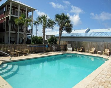 Silver Sands semi-private pool (neighboring house is owner's home)