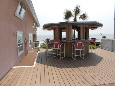 tiki bar and huge deck