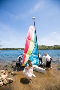 Have a catamaran sail of a lifetime on Scargo Lake or go kayaking or canoeing