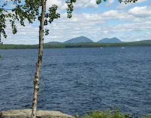 Rockwood cottage photo - View of Spencer Mts and Katadin off shore