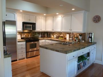 Camarillo house rental - Beautiful kitchen features slate counters and backsplash, stainless appliance