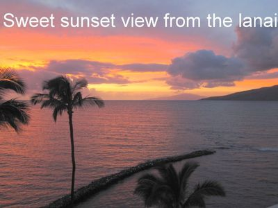 Sweet sunset view from the lanai