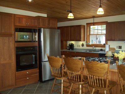 Stainless Steel appliances and tiles floors with radiant heat...