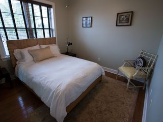 Folly Beach townhome photo - Bedroom 2 (Queen Bed) on main level with full bathroom attached
