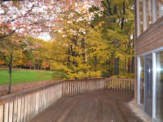 Lake Wallenpaupack property rental photo - Wrap around deck