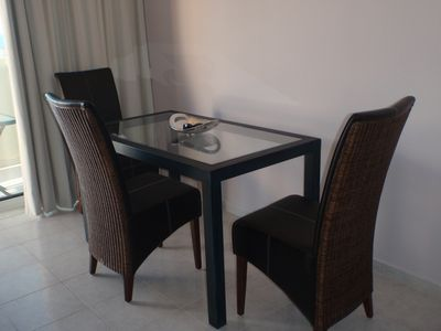 Dining area with fantastic seaviews