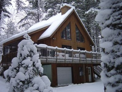 Paul Smiths chalet rental - Ski out your front door!