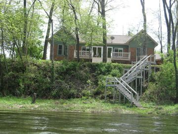 Mountain Home house rental - Rear view of the house from the river