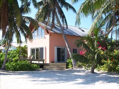 The Conch Cottage located right on the beach