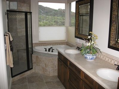 Master Suite Bath - Both baths have large showers - Beautiful tile work