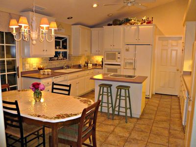 Spacious kitchen has plenty of counter space and room for two cooks!