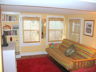 Provincetown townhome photo - sperad out in the additional sitting area with flat screen TV.