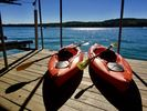 2 kayaks are available for unlimited use and on the private dock