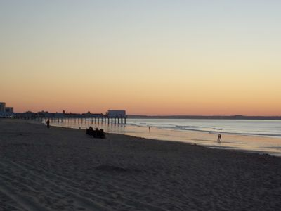 Old Orchard Beach cottage rental - Old Orchard Beach at sunrise. A 5 minute walk away!