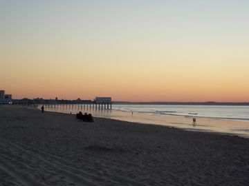 Old Orchard Beach at sunrise. A 5 minute walk away!