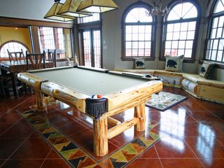 Rec Room Log Pool Table, Chess Table, Window Seat - Newry house vacation rental photo