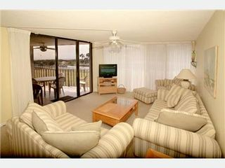 St. Augustine Beach condo photo - Enjoy the beach / ocean view with loved ones and friends in Living Rm
