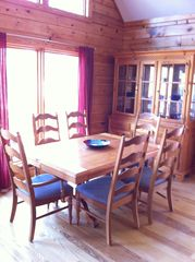 Lake Gaston cabin photo - Dining room table