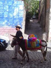 San Miguel de Allende house photo - This is the tiny street where Casa Capricho Canela is located.