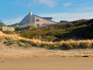 Bandon house photo - Photo of home taken from wide, mile-long beach