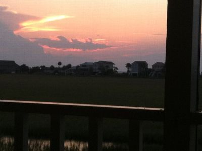 Sunset over Marsh from Upstairs Porch