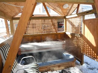 Crowsnest Pass house photo - Gazebo with hot tub.