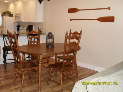 Ramsgate Harbour condo rental - Dining area.