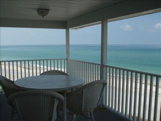 Manasota Key condo photo - View of condo from water/beach. (Top right unit)