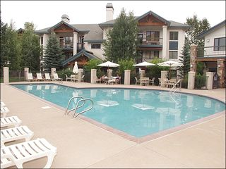 Steamboat Springs condo photo - Heated Pool & 2nd Hot Tub area with Clubhouse