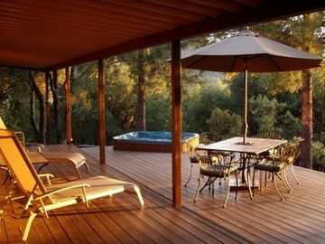 Mariposa house rental - The Outdoor Living Room provides a peaceful place to renew your spirit
