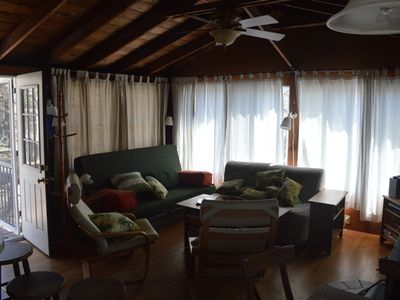 Davis Park cottage rental - Main Room: Queen Sofabed and Full Sofabed