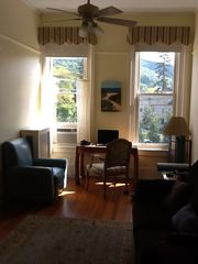 Great Barrington apartment photo - Living Room with view of the mountain